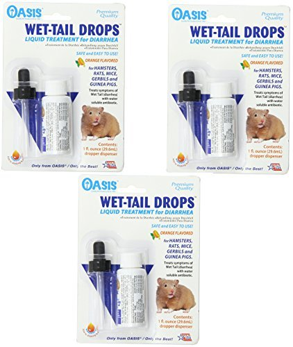 (3 Pack) Oasis Wet Tail Drops- Liquid Treatment for Diarrhea, 1-Ounce by Kordon