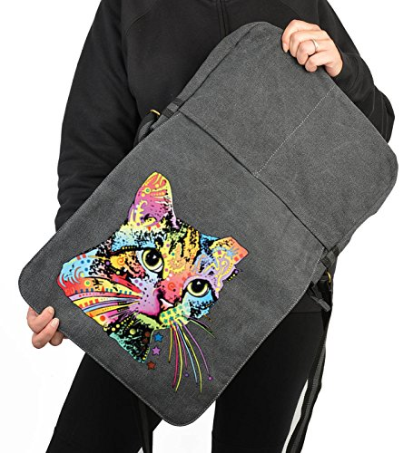 Catillac New Canvas Tasche for Ladies, Farbe Schwarz, Pop Art Style