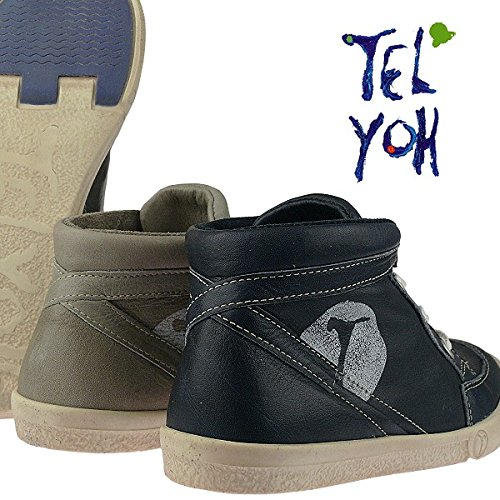 Telyoh Sommer-Knöchel-Boots Premiumqualität chromfreies Leder Y00337 Gr.30-40 Grau