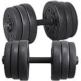 Topeakmart Adjustable Dumbbells Set Weight Set Gym/Home Barbell Plates Body Workout 60lbs