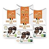 Belvas Belgian Brut de Noir Dark Chocolate Praline w/Coco Sugar 3.5 oz (4 Box)