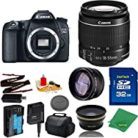 Great Value Bundle for 70D DSLR – 18-55mm STM + 32GB Memory + Wide Angle + Telephoto Lens + Case