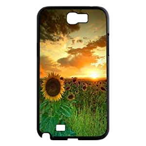 Good mood with sunflower Case Cover Best For Samsung Galaxy Note 2 Case KHR-U549651