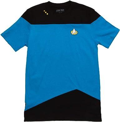 Star Trek Next Generation TV Series Old School Light Blue Big Boys T-Shirt Tee