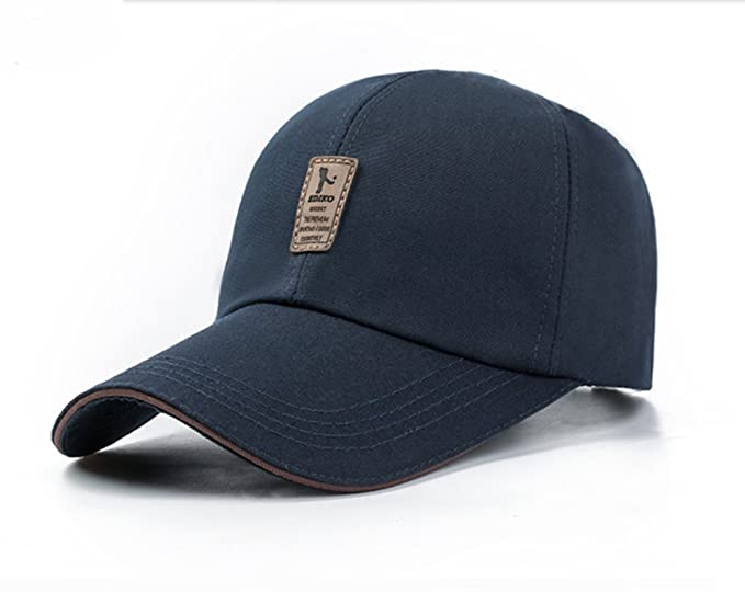 a2468357597 Elwow Men s Leather On Front Outdoor Discovery Field Trip Baseabll Trucker  Hat Cap for hiking