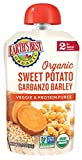 Earth's Best Organic Baby Food Puree Pouch, Sweet Potato Garbanzo & Barley, Stage 2 For Babies 6 months & Older, 4.2 Oz (Pack of 12) [Packaging May Vary]