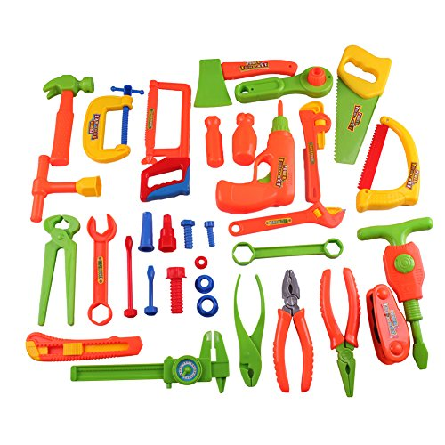 Gresdent 34Pcs Children 's Tool Toys Set Repair Tools Children Learning Pretend Play