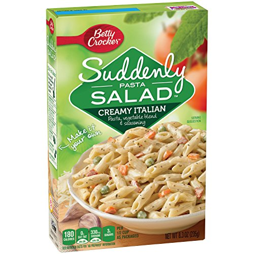 (Betty Crocker Suddenly Pasta Salad, Creamy Italian, 8.3-Ounce Boxes (Pack of)