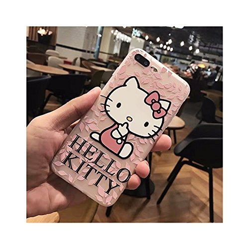 Hello Kitty Telephone (Cute Hello Kitty TPU Silicone Phone Case Back Cover For i phone 7 or 8 (I Phone 7 or 8 / Style 2))