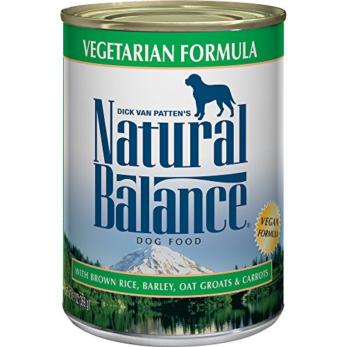 Natural Balance Ultra Premium Canned Dog Food, Vegetarian Formula, 13-Ounce (Pack of 12) - All Natural Canned Dog Food