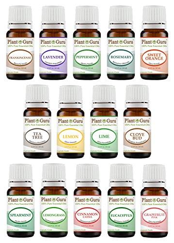 Essential Oil ml Therapeutic Grade Pure Peppermint, Rosemary, Orange, Clove, Lemongrass, Cinnamon