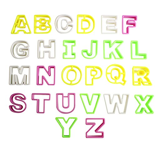 Kunststoff Ausstecher Alphabet A-Z 26 Buchstaben Ausstechformen von Kurtzy TM