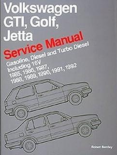 volkswagen gti golf and jetta service manual 1985 1986 1987 rh amazon com 1987 VW Jetta White 1996 VW Jetta Manual