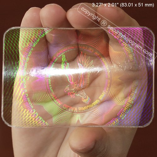 - 25 ID Cards Security Hologram Overlay Stickers with Micro Secure Technology SHID-11