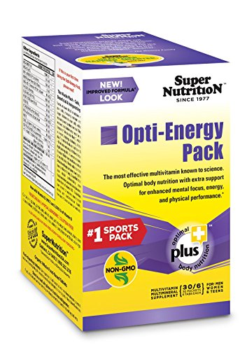 SuperNutrition Opti-Energy Pack Multivitamin, 30 Packets of 6 tabs