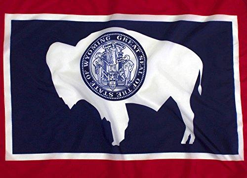 (3x5ft Wyoming Flag - Highest Quality Outdoor Nylon)