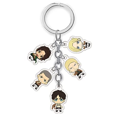 SGOT Anime Llavero acrílico Attack On Titan Keychains ...