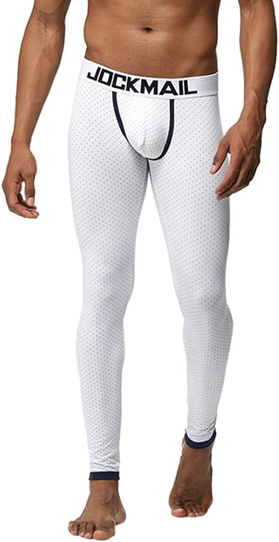 beautyjourney Interior térmica de algodón para Hombres Leggings de compresión Ajustados Estampados Pantalones Deportivos Pantalones de Entrenamiento Calzoncillos Largos Ajustados: Amazon.es: Ropa y accesorios