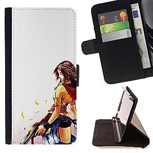 - Sexy Desperado - - Monedero PU titular de la tarjeta de cr????dito de cuero cubierta de la caja de la bolsa FOR Sony Xperia Z1 L39 RetroCandy