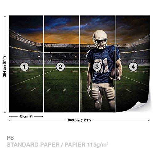 American Football Stadium Wall Mural Photo Wallpaper Room Décor (1114WS)