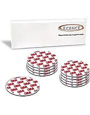 ECENCE Rookmelder magneethouder 10 stuks zelfklevende magneethouder voor rookmelder Ø 70 mm snelle & veilige montage zonder te boren of schroeven, voor alle brand- en rookmelders