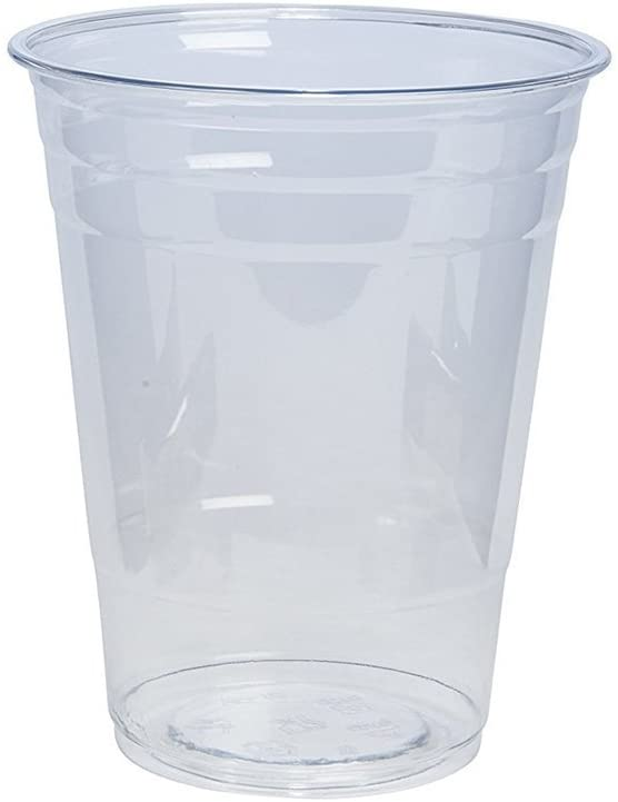 [100 Pack - 16 oz.] Crystal Clear PET Plastic Cups: Kitchen & Dining