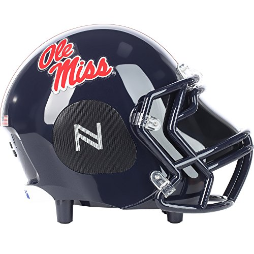 Nima Athletics NCAA Football OLE Miss Rebels Wireless Bluetooth Speaker. Officially Licensed Portable Helmet Speaker NCAA College Football - Small