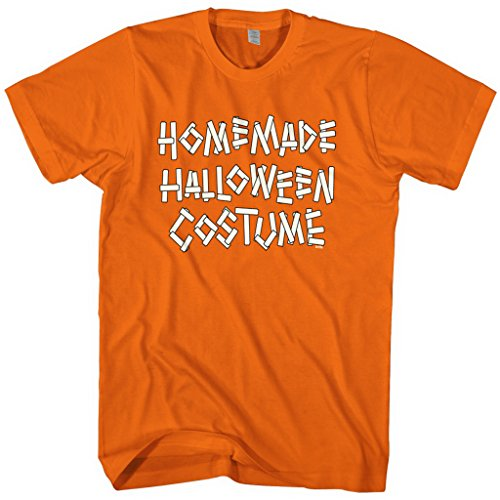 Mixtbrand Men's Homemade Halloween Costume T-shirt 2XL Orange (Homemade Halloween Costumes For Men)