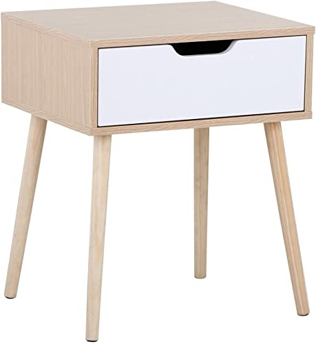 YAHEETECH Mid Century Bedside Tables Nightstand