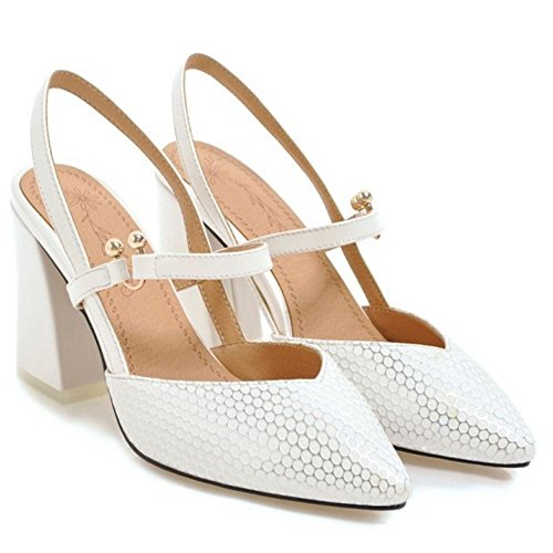 Women Slingback Pointed White Sandals KemeKiss Toe dqIwdS