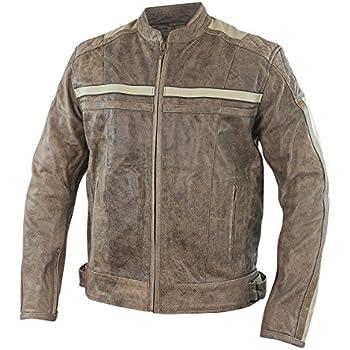 Amazon.com: Xelement BXU1891 Burn Rubber Mens Tan Leather Jacket ...