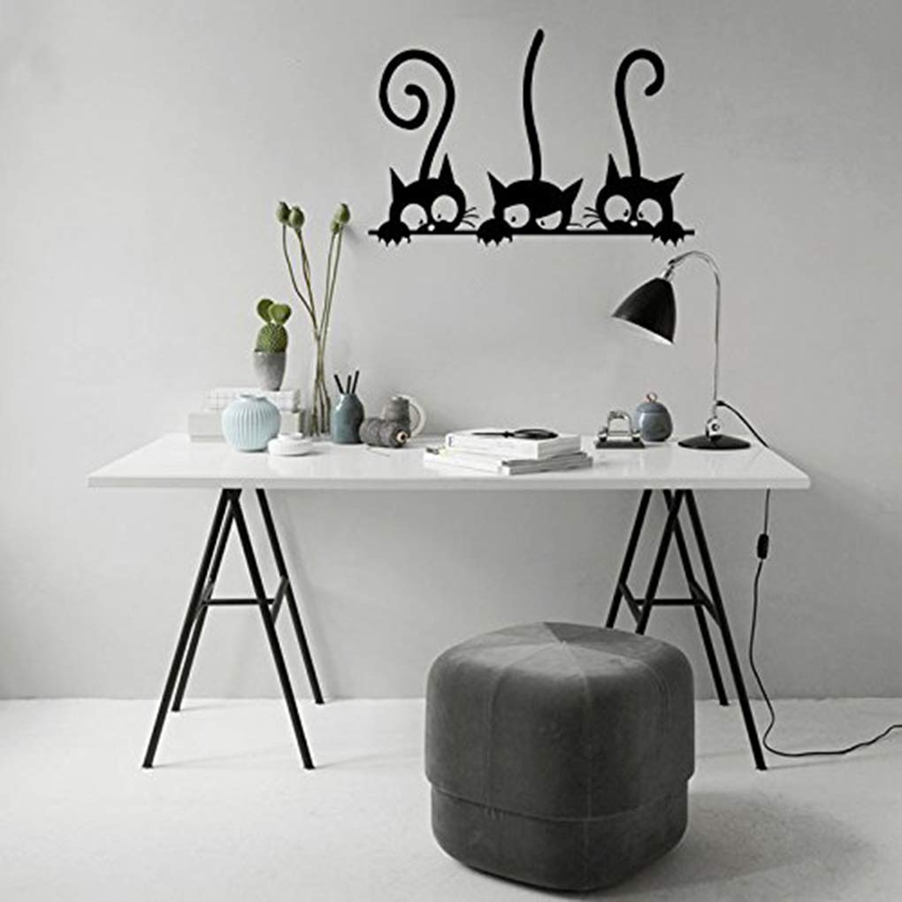 Boger Adhesive Cute Cartoon Cat Wall Stickers Bedroom Livingroom Wall Decals Home Wall DIY Decors by Boger (Image #8)
