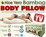 Aloe 99 The Pregnancy Sqa Spa Body Pillow Hypoallergenic Aloe Vera with Shredded Memory Foam. Pressure Relieving Sleep Aid, Improve Bodily Alignment.