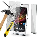 ONX3® Sony Xperia SP Case Custom Made Tempered Glass Crystal Clear LCD Screen Protectors Packs With Polishing Cloth & Application Card ( 1 Pack )