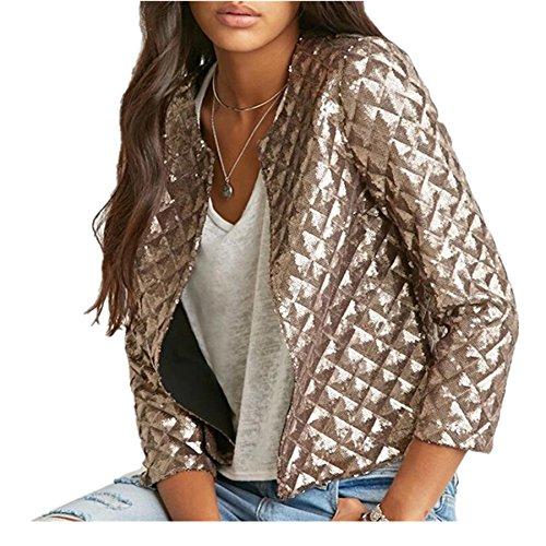 Sequins Jackets sleeve Outwears J10