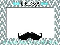 Custom Home Decor Little Man Baby Shower Photo Booth Prop - Sizes 36x24, 48x36; Personalized Social Media Style Baby Shower Photo Booth Frame, Bow, Mustache, baby boy; Handmade Nursery Decor