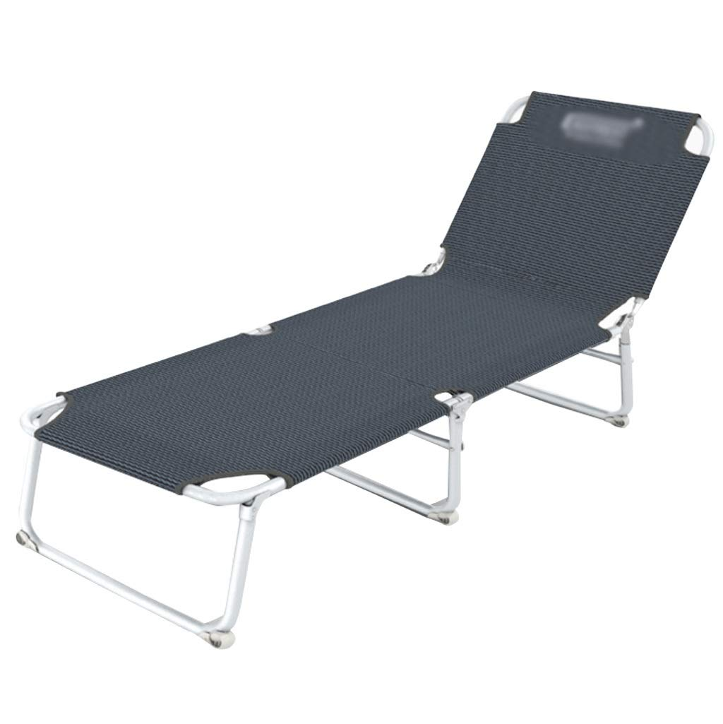 PCLLY Faltbare Mittagspause Deck Stuhl Büro Nickerchen Bett Begleitbett Faltbare Einzelne Innen Freizeit Outdoor Camping Reise Bett, Tragen Aufbewahrungstasche