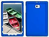 Bobj Rugged Case for Samsung Galaxy Tab A 10.1, SM-T580, SM-T585, (Does not fit S-Pen Models) - BobjGear Custom Fit - Patented Venting - Sound Amplification - BobjBounces Kid Friendly (Batfish Blue)