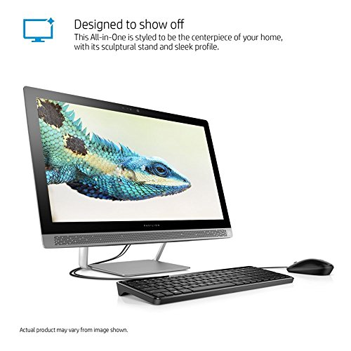 "2017 Newest Edition HP 24"" FHD(1920x1080) High Performance WLED-Backlit All-in-One Desktop PC, Intel Core i3-6100T (3.2GHz), 8GB RAM, 1TB HDD, SuperMulti DVD, HDMI, Bluetooth, Win10"