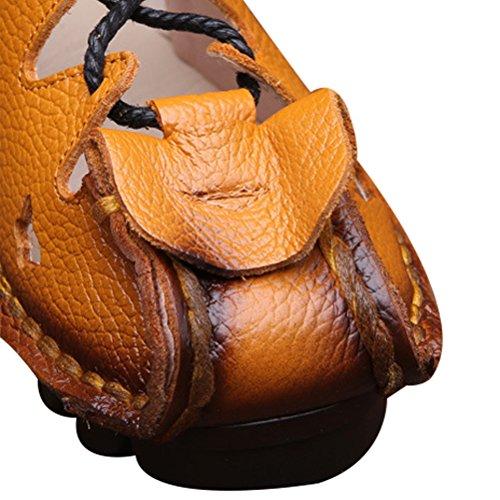 Basso Nuove art Vogstyle Donna Casuali Tacco aprikose Scarpe Sandali 4 qZwHIw85