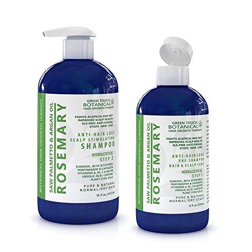 Hair Growth Botanical STEP 1 & 2: Organic Anti Hair Loss Sca