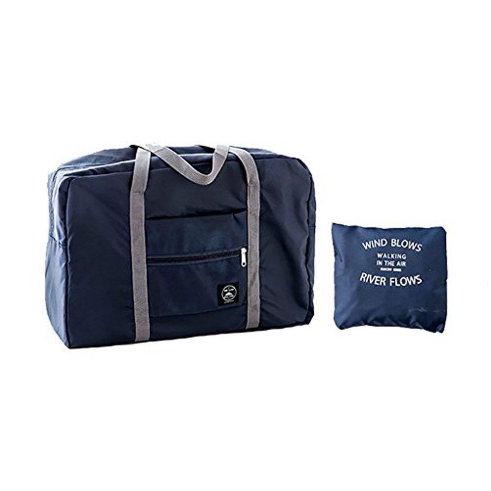 Foldable Travel Bag for Women Waterproof Lightweight Tote Bag Shoulder strap Duffel Bag Portable Bag (Blue) by MMIRAG (Image #2)