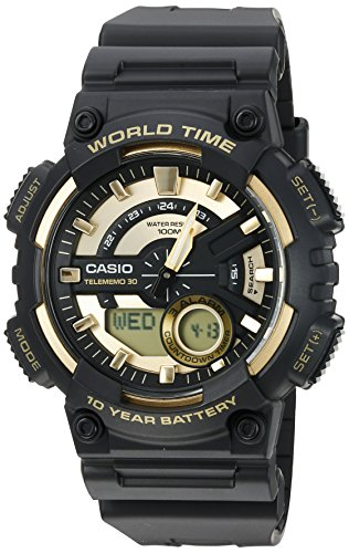 - Casio Men's 'Heavy Duty' Quartz Resin Watch, Color:Black (Model: AEQ110BW-9AV)
