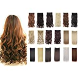 FUT 3/4 Head 5 Clips in One Piece Synthetic Hair Pieces Extensions 24-30inch 125-130g for Girl Lady Women