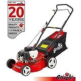 Grizzly Benzin Rasenmäher BRM 4210-20 1,6 kW 2,1 PS 42 cm Schnittbreite Stahlgehäuse 5 fach Höhenverstellung