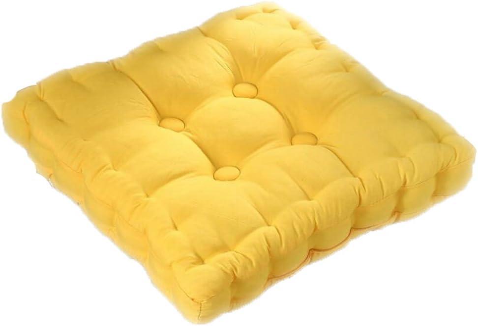 Milopon Coussin dassise de Chaise Coussin pour Chaise /à Dossier Haut Flanelle Coussin pour Chaises de Jardin Orange