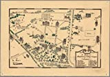 1800-1932. A map of Middlebury College campus | Historic Antique Vintage Map Reprint