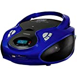 Lauson CP436 CD Portatile Lettore USB Radio AM / FM Mp3 USB SD-Card Boombox Music System, AUX IN CD-Radio