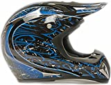 Adult-Offroad-Helmet-Goggles-Gloves-Gear-Combo-DOT-Motocross-ATV-Dirt-Bike-MX-Black-Blue-Splatter