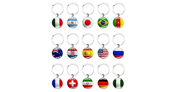 Amazon.com: 15 piezas 2018 Copa del Mundo Nacional Bandera ...